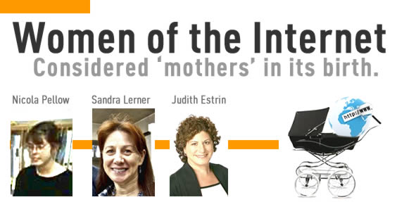 "Image depicting several key women of the internet affectionately references as the ""founding mothers""."